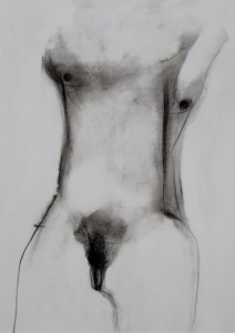 'NUDO 1'  2009  50x70 carboncino