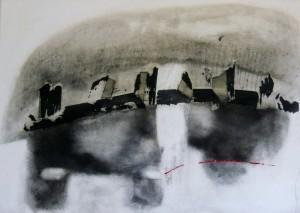 'OPPOSTI MENTALI VII'   2011   70X50  carboncino