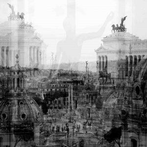 Davide Bramante - Stratificazioni Urbane 2017 - Roma, 2014+ (Danzante in mezzo) cm 120 x 120 copy