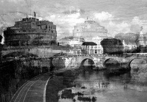 Davide Bramante - Stratificazioni Urbane 2017 - Roma, (Castel S.Angelo) 2016 copy