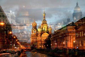 Davide Bramante - Stratificazioni Urbane 2017 - San Pietroburgo ((sangue versato + 2 cupole))
