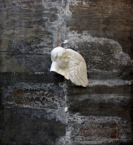 %22Sotto la tua pelle%22, 2015, marmo statuario di Carrara e piombo, cm 200x200cm copia 2