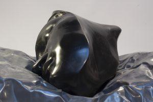 BLACKSTARS, 2016, marmo nero del Belgio e piombo, cm 35x60x40cm