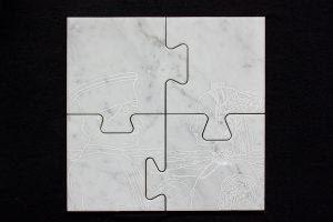 ICONS, 2017, marmo di Carrara, cm 30x30