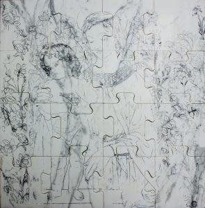 ICONS, 2017, marmo di Carrara, cm 33x33cm
