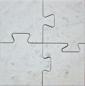 ICONS, mamro di Carrara, cm 32x32cm