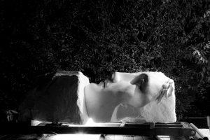 INVICTUS, 2017, marmo statuario di Carrara, cm 300x160x110cm
