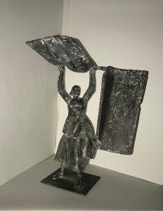 Angelo biancini - La lavandaia (bronzetto 1980) - Web